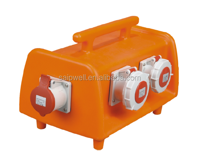 Plastic Portable Electrical Plug Floor Outlet Socket Box