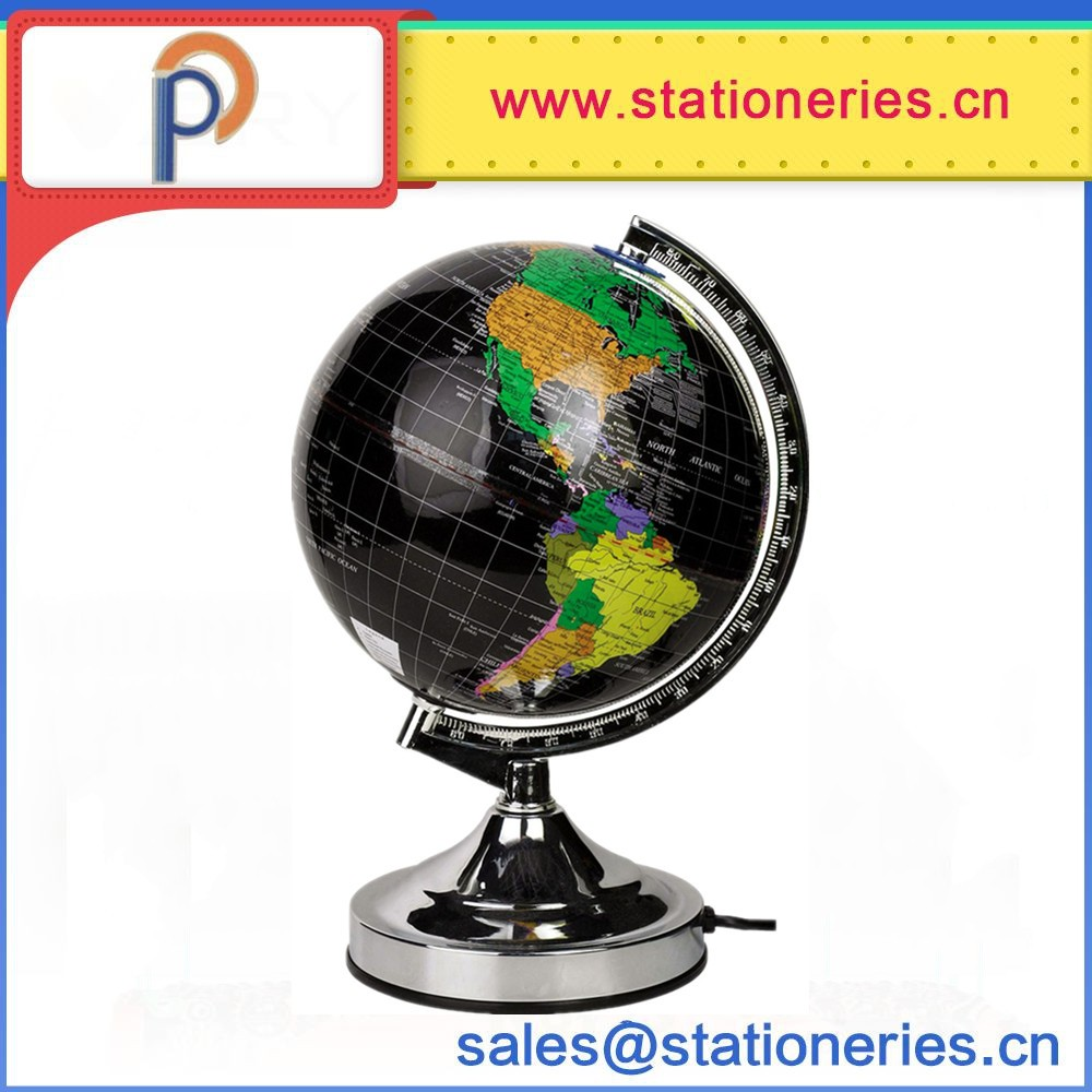 Office And School Supplies Plastic Rotating 20cm World Globe With Light -  Buy Plastic Globe,Plastic World Globes,Plastic Earth Globes Product on