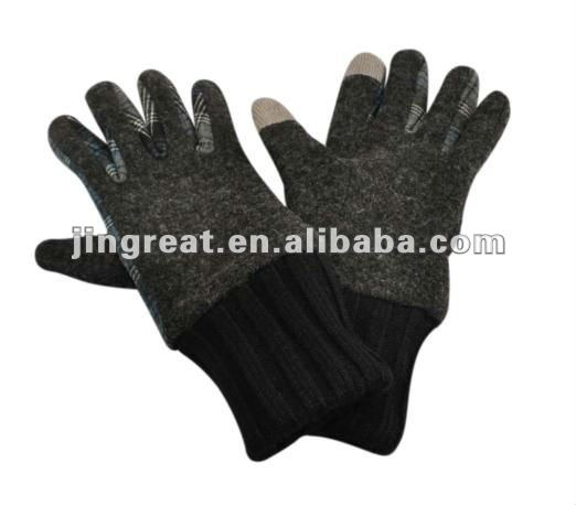 Melton Glove Touch Screen Finger Tips