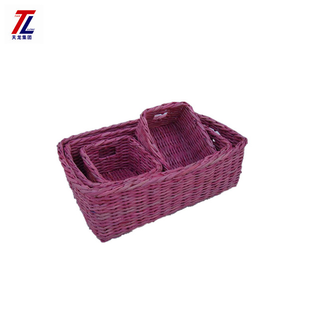 Hot sales decorative eco-friendly wicker recyled paper colored storage basket  sc 1 st  Alibaba & Buy Cheap China colorful storage wicker basket Products Find China ...