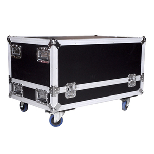 Rolling rack equipment microphone stand carrying aluminium flight case