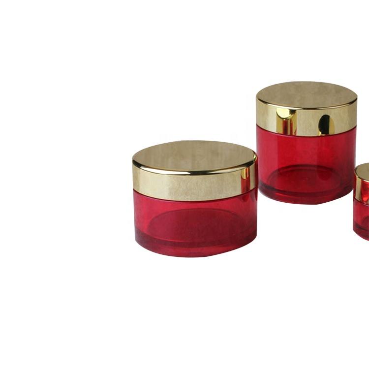 Campione gratuito di plastica vasetti di crema cosmetica contenitori