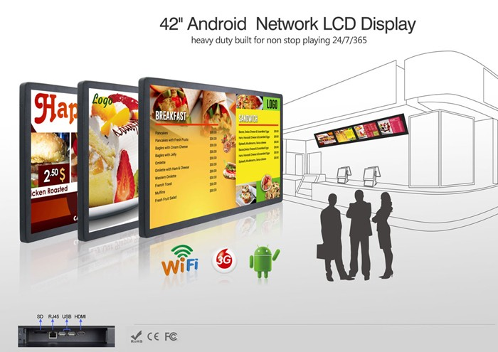 Support Horizontal Or Vertical Lcd 32 Inch Advertising Display Tv ...