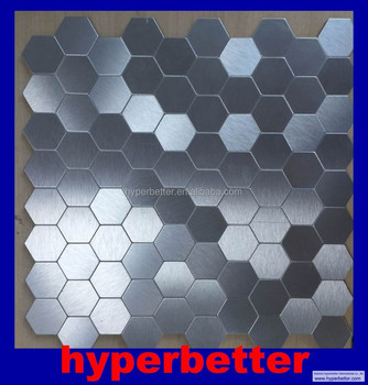 Hexagonal shape stainless steel mosaic tiles