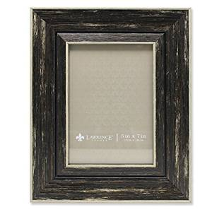 Lawrence Frames Weathered Decorative Picture Frame, 5 by 7-Inch, Black by Lawrence Frames