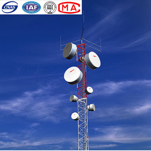 GSM angle steel antenna telecom tower