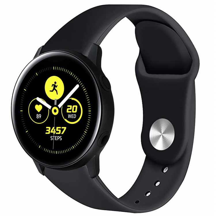 Custom Silicone Rubber Wrist Watch Band For Samsung Galaxy Watch Active