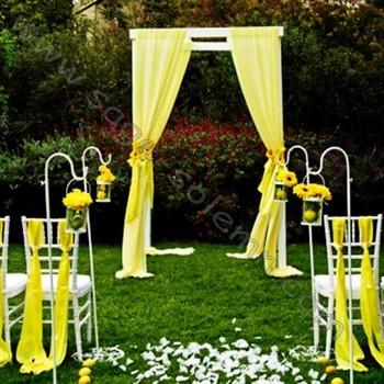 White Wedding Garden Shepherd Hook Crook Lantern Flower Holder