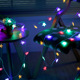 Battery Operated Led Hanging Star String Lights Chain Decoration Christmas Twinkle Star Light