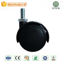 2 inch Dual Wheel Nylon Furniture Caster ,small furniture casters