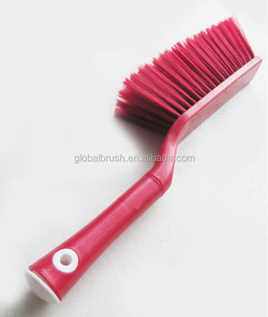 Hq1a1588 Heavy Duty Plastic Sofa Cleaning Brush Car Seat Hand With Long Bristle