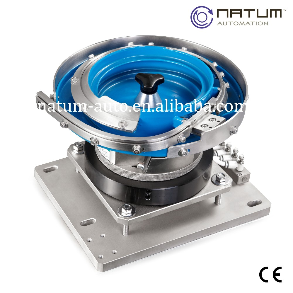 bowl feeders Centrifugal feeder systems often parts are pre qualified in the feeder bowl and once the parts exit the feeder they are reoriented by the use of external tools, for example: c-track, twist track, zig zag track, transfer wheels, etc when final exit orientation is achieved.