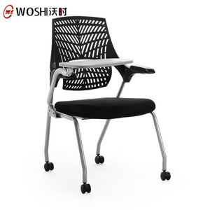 2018 Latest Design Fold Up Office Chair With Writing Pad/Training Hall Chairs