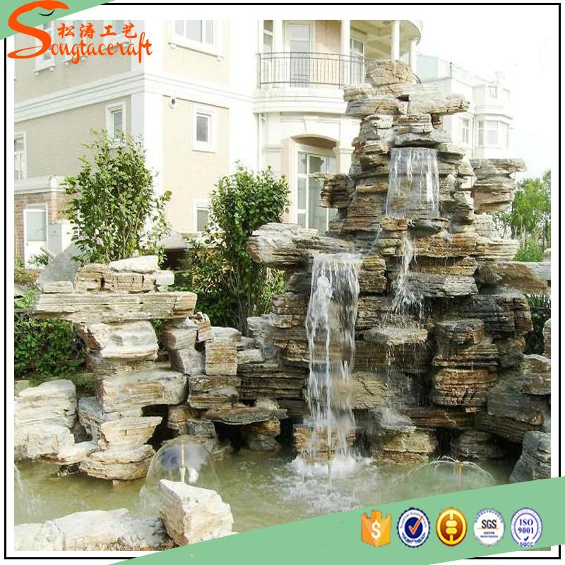 Prefabbricato ingrosso fontane da interno parete artificiale ...