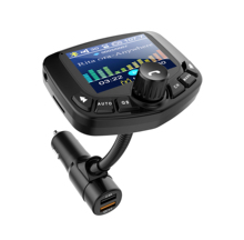 2019 QC3.0 bluetooth car trasmettitore fm micro SD card/U-disk <span class=keywords><strong>auto</strong></span> <span class=keywords><strong>lettore</strong></span> <span class=keywords><strong>mp3</strong></span> DC 5 V 2.4A carica 1.8 pollici TFT display a colori FM38