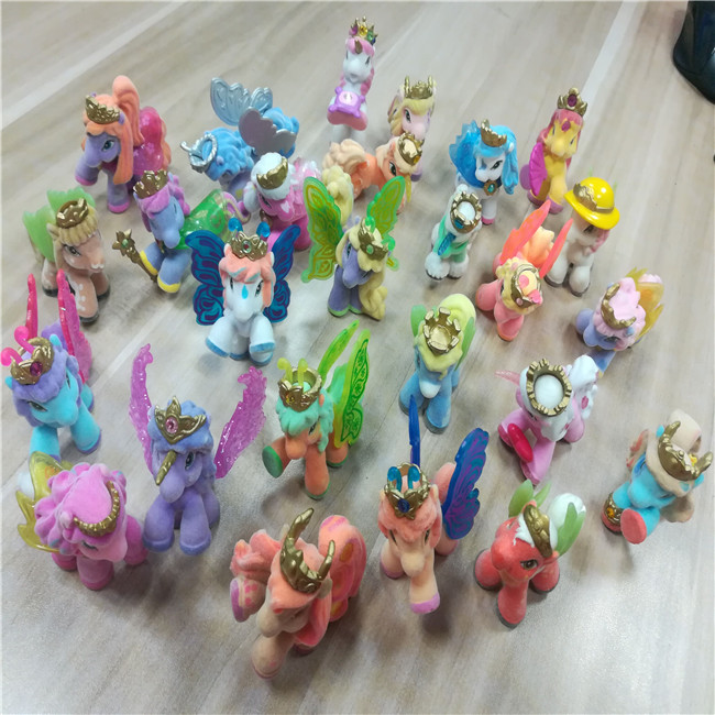 New Design Lovely horse dolls PVC flocking Toys