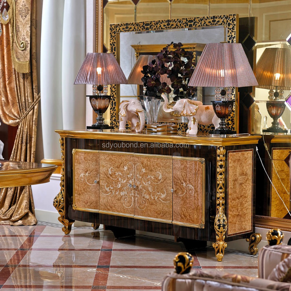 2015 0061 classical side cabinet antique luxury sideboard cabinet