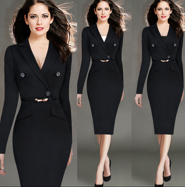 ladies skirt suits for office custom women dress WMS20150009