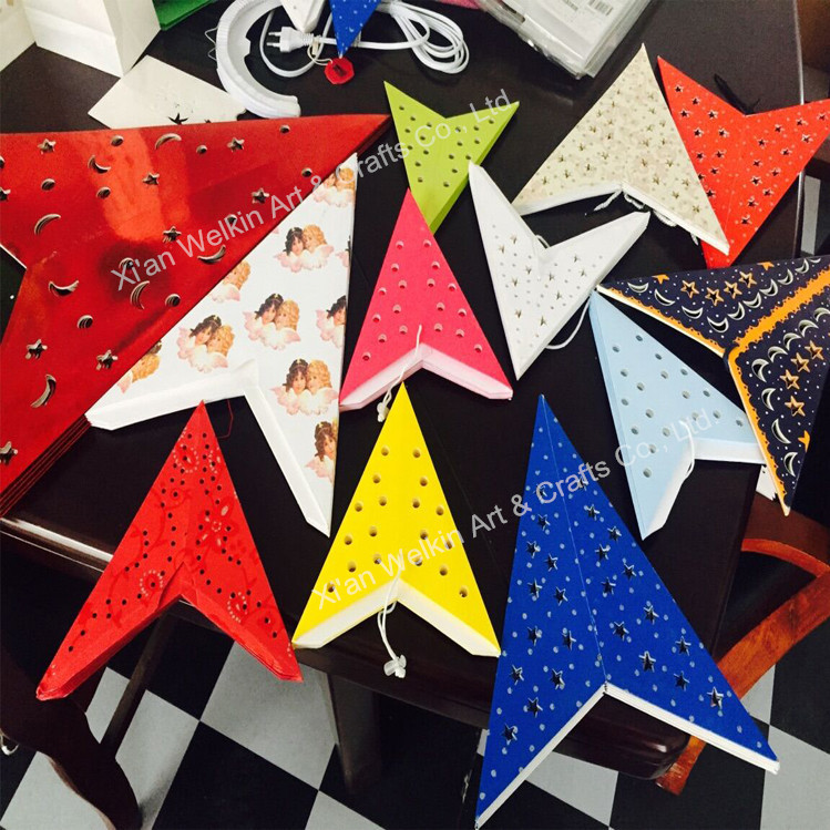 Wholesale Star Paper Lamp,Chinese Paper Star Lantern With Light ...