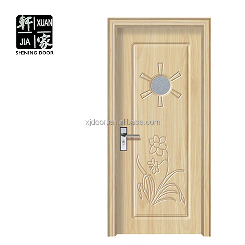 china wholesale Interior frosted small circle glass bathroom door