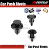Hole Plastic Rivets Fastener Push Clips Black for Car Auto Fender