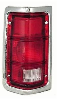 88-93 Dodge Ram Truck 1500 2500 3500 DRIVER Taillight NEW Chrome Trim 88-93 Dodge Ramcharger