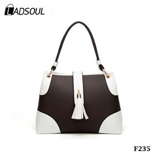 1267f7103b46 Beautiful Fashion Bags Two-color Stitching Tassel Ladies Handbags