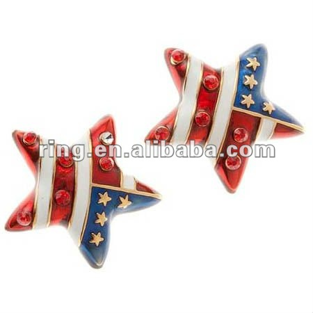 Patriotic the Stars And The Stripes Stud Earrings