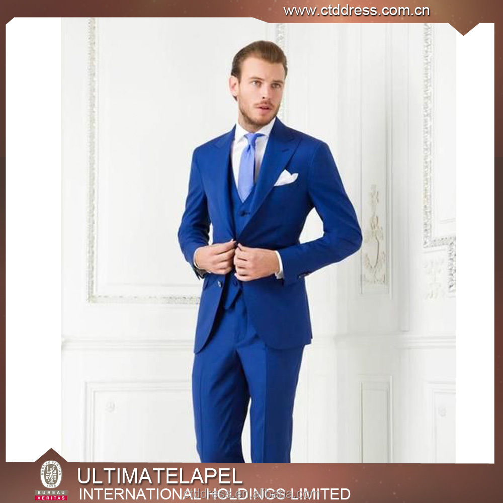 High Quality Custom Tailor Hand Made Royalblue Slim Fit Suits For ...