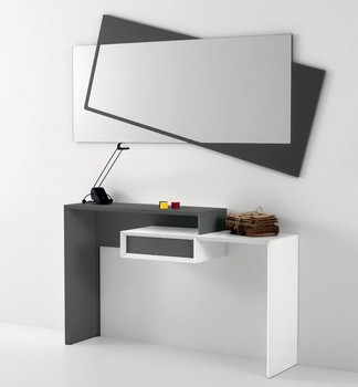 design mdf wooden console table with mirror