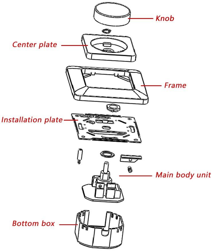 ce  intertek 250vac dimmer light control switch