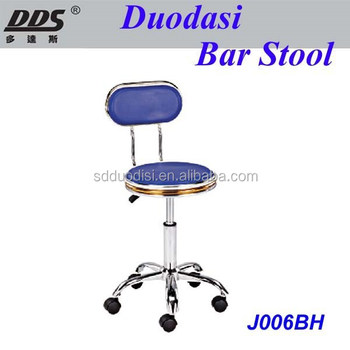 High Quality Beautiful Outdoor Pvc Resin Bar Stools With Wheels J006