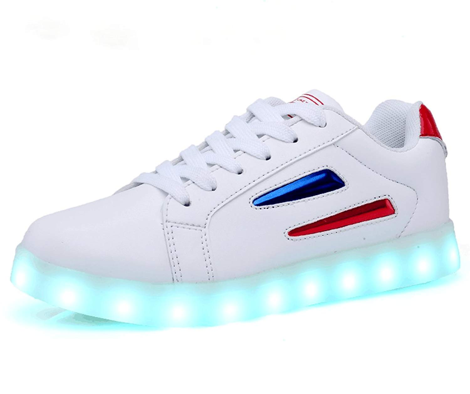 Get Quotations · Veribuy Mens   Womens Light Up LED Shoes Sneakers USB  Charging 7 Color Cool Gift d6bb25ec8