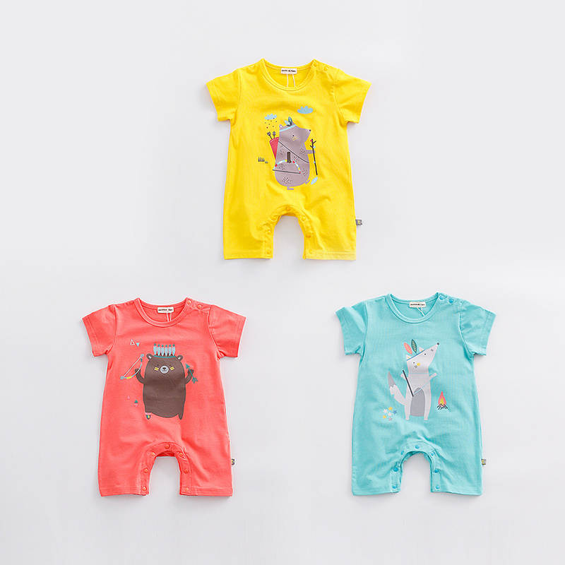 89df313f6ad Baby Product Thailand Wholesale Flutter Sleeve Baby Animal Clothes Bubble  Romper