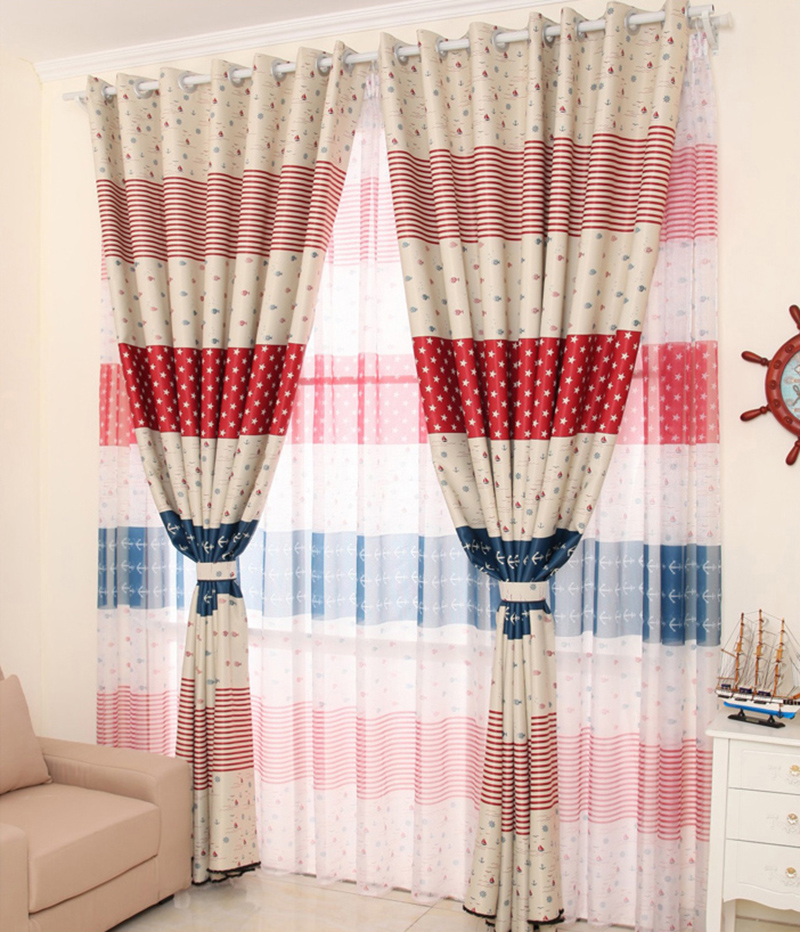 95*200cm Stripes Dots Windows Curtains for the Living Sitting Room Bedroom Home Decoration