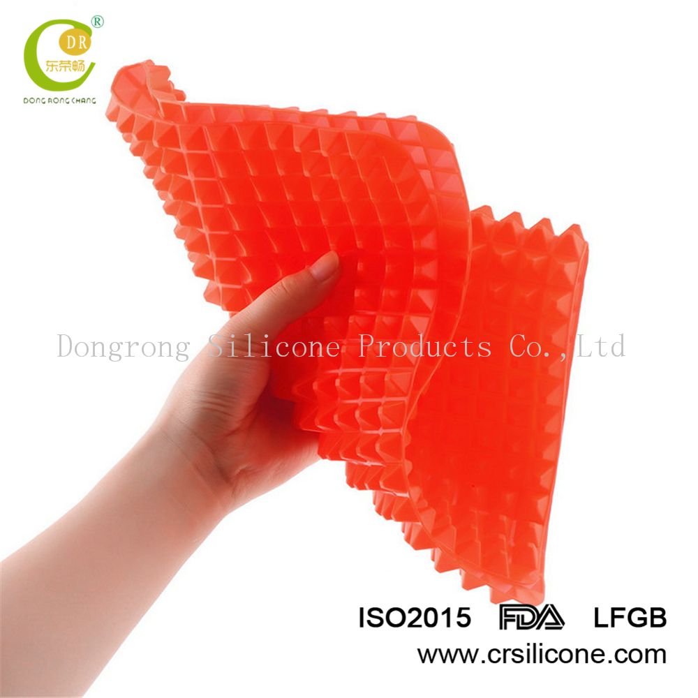 Cooking Mat,Non Stick Pyramid Pan Fat Reducing Silicone Cooking Mat Oven Baking Tray Sheets