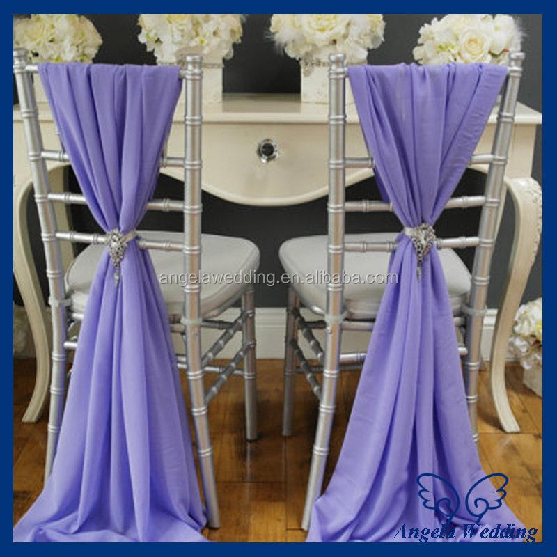 Sh003f Whole Elegant Fancy Wedding Ivory Chiffon Chair Sash