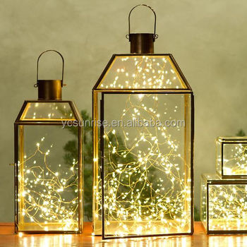 2017 Gold Geometric Terrarium Lantern Design Candle Holder Buy