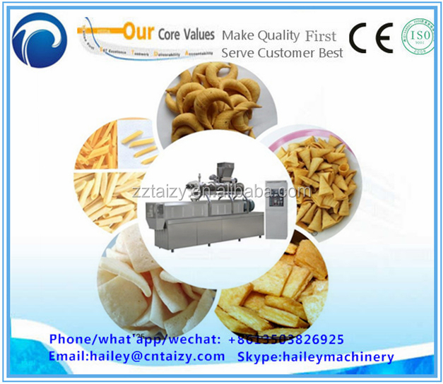 Corn puff snack extruder snack food machine processing line
