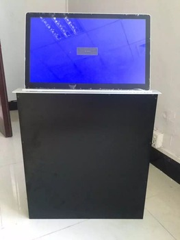 Intelligent flip up touch screen pc monitor lift
