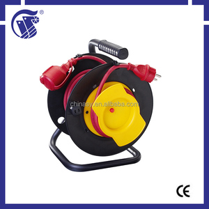 IP44 40m high quality Extension Cords retractable small used cable reel