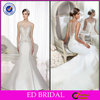 New Fashion Style Mermaid Sweetheart Illusion Back Wedding Dress Crystal Embroidery