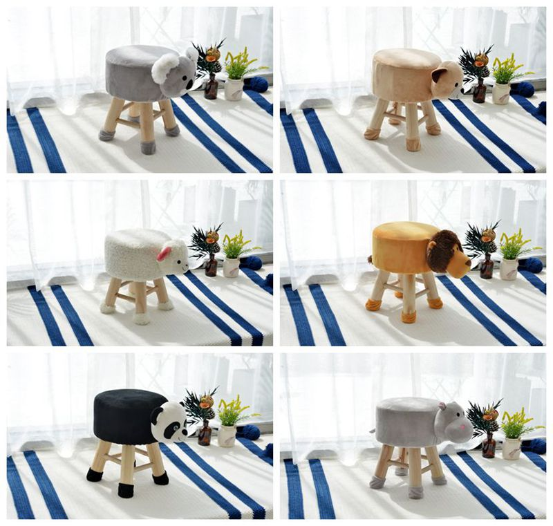 Living Room Shoe Store Foot Ottoman Stool Seat Funny Toy Pouffe Stool Cute  Animal Stool Wooden Furniture Baby Lovely Furniture - Buy Dining Room
