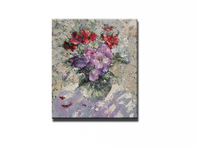 NEW 100% hand-painted canvas oil painting high quality Household adornment art flower pictures Matching framework  DM-15071802