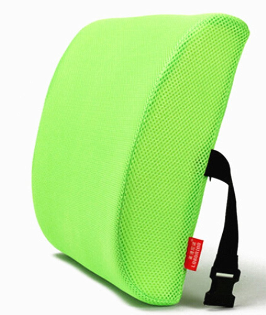 Moyishi Green High Resilient Memory Foam Seat Back Lumbar Cushion Support Pillow Car Office Chair Back Support