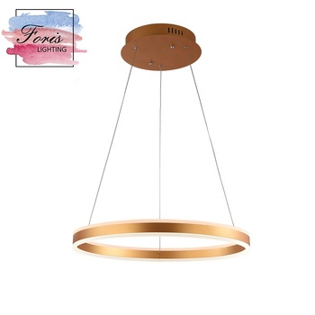 Pendant light with ETL modern chandelier for high ceiling pendants ceiling light led ring pendant light