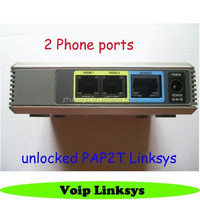Unlocked Linksys pap2t phone adapter voip ata adapter voip gateway with Two FXS Port