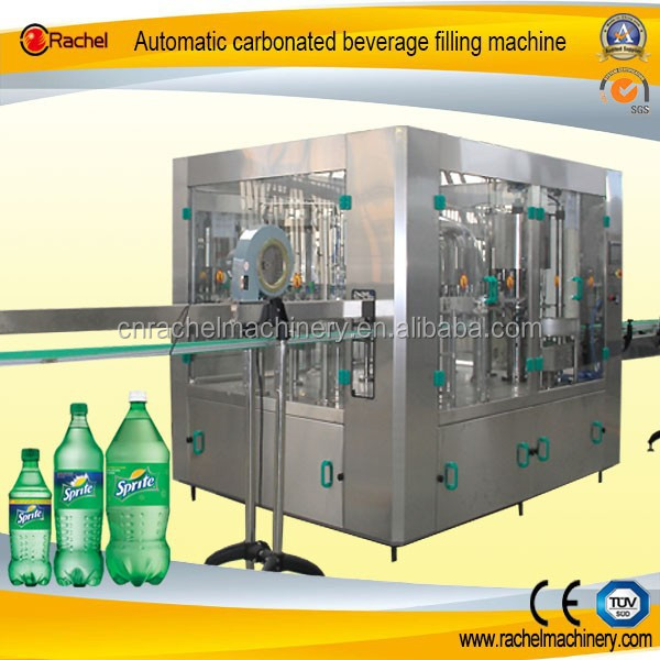 Automatic carbonated drink washing filling capping bottling machine
