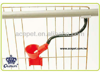 automatic poultry drinker with hose & clamp