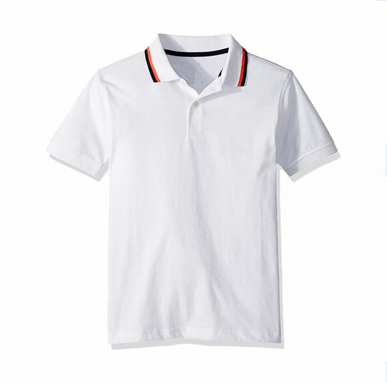 02c2d103b السعر المنخفض الفصول الملابس للأطفال رخيصة للبنين قصيرة الأكمام الصلبة  القطن قمصان بولو موحدة